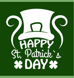 saint patrick day symbol of leprechaun hat and vector image
