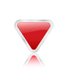triangular icon red vector image