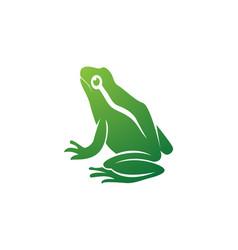 frog green animals logo and symbols vector image