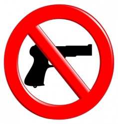 sign of prohibited weapons vector image vector image
