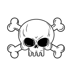 Skull with bones Pirates sign Head skeleto vector image