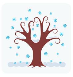 tree in winter vector image
