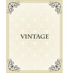 vintage background card vector image