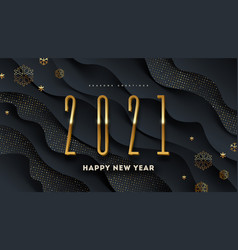 2021 new year greeting card vector image