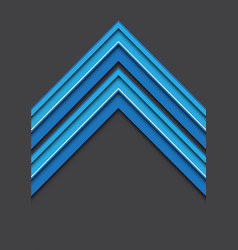 abstract blue white line arrow 3d on gray blank vector image