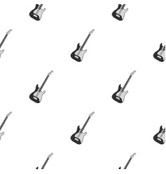 acoustic guitar pattern seamless vector image