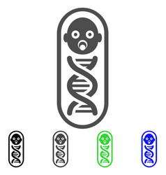 Baby genome icon vector