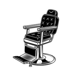 barber shop chair in engraving style design vector image