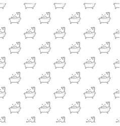 Bath pattern seamless vector