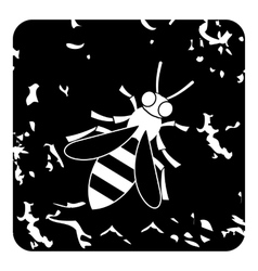 Bee icon grunge style vector