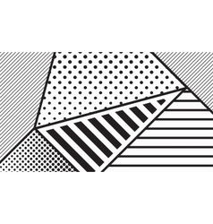 Black and white pop art geometric pattern vector