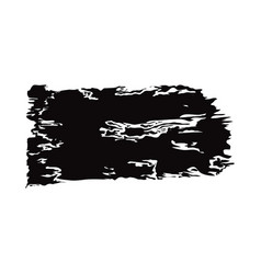 black grunge brush strokes ink paint isolated on vector image
