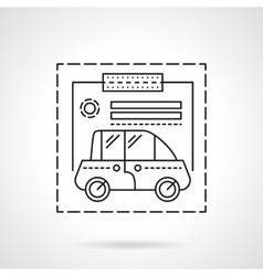 Car insurance flat line design icon vector