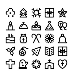 Christmas Icons 8 vector image