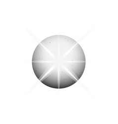 circle planet shining gray ball logo template vector image