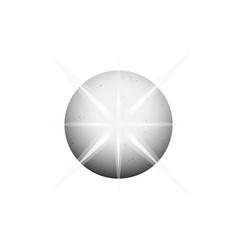 circle planet shining gray ball logo template vector image