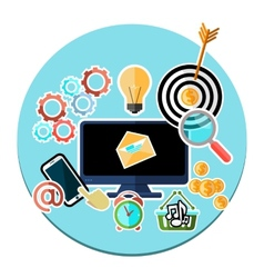 Concept of mobile and web services applications vector
