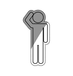 Confused man pictrogram vector