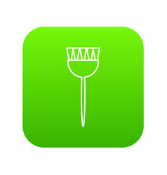 cosmetic brush icon green vector image