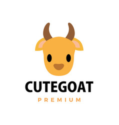 cute goat flat logo icon vector image