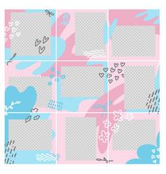 design editable social network square post vector image