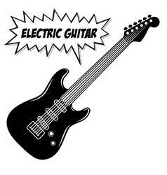 electric guitar 6 strings vector image