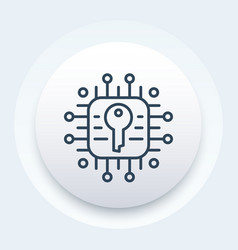 Encryption and data protection linear icon vector
