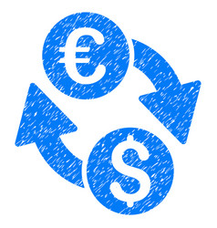 euro money exchange grunge icon vector image