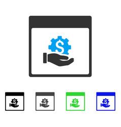 Financial development hand calendar page flat icon vector