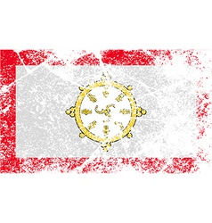 Flag of Sikkim with old texture vector image