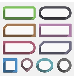 Flat Buttons vector image
