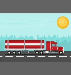 flat truck vector image