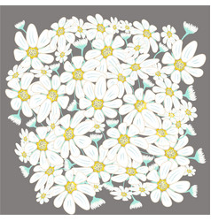 Floral includes chamomiles vector
