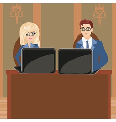 Formally dressed people in office business meeting vector image