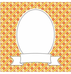 Frame on orange plaid background vector