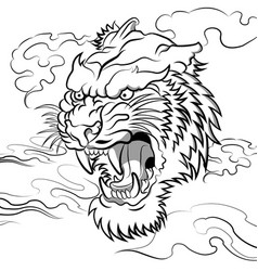 furious tiger vector image