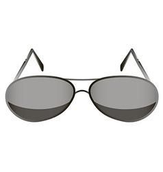 glasses black 1 v vector image