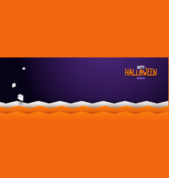 happy halloween banner spooky background vector image