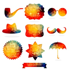Hipster background made geometric pattern retro vector