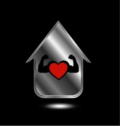 House with a healthy heart vector