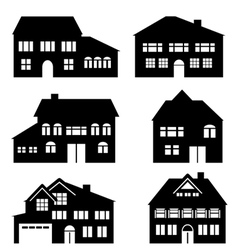 Houses construction and real estate vector image