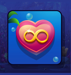 Image heart with infinity sign vector