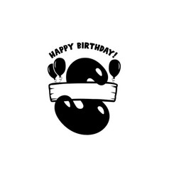 initial birthday s letter happy birthday monogram vector image