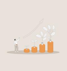 Investment return stock market growth profit vector