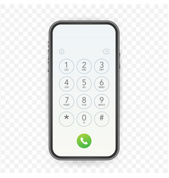 Keypad for on smartphone screen application vector