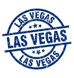 Las vegas blue round grunge stamp vector