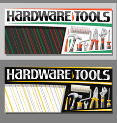 Layouts for hardware tools vector