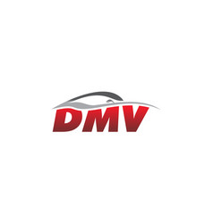 Letter d m v modern vector