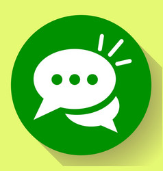 Live chat icon with dialog clouds speech vector