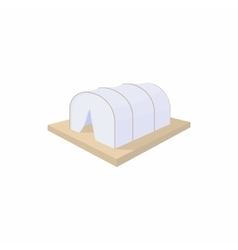 Makeshift camp icon cartoon style vector